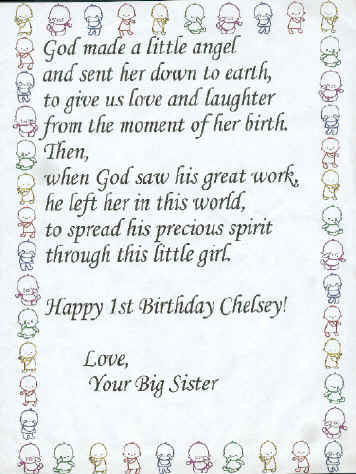 a poem written by big sister