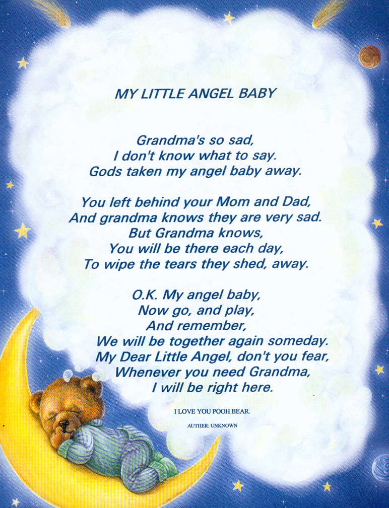 Baby Angels in Heaven Poems http://www.our-sma-angels.com/Jordon/angel_baby.htm