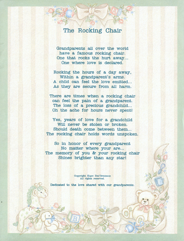 Baby Angels in Heaven Poems http://www.our-sma-angels.com/Jordon/rocking_chair.htm