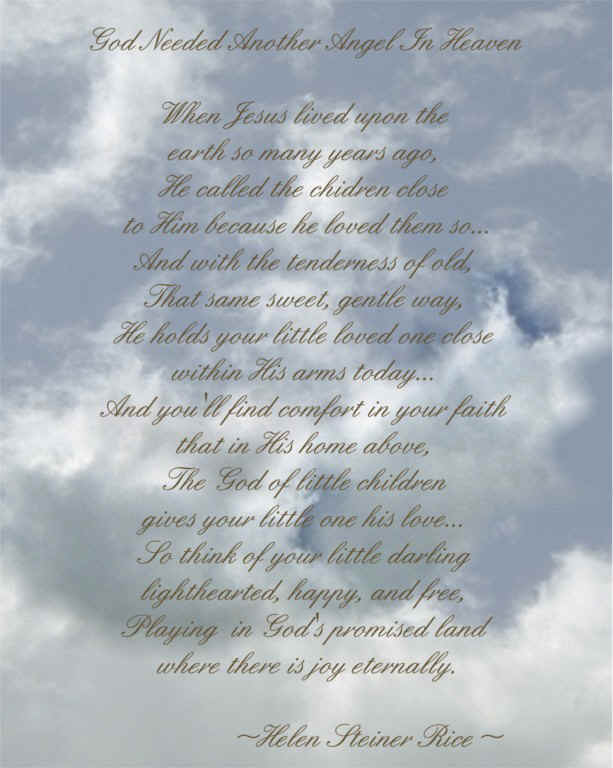God Needed an Angel in Heaven Poem