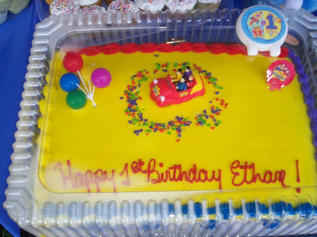 Wiggles St Birthday Cake